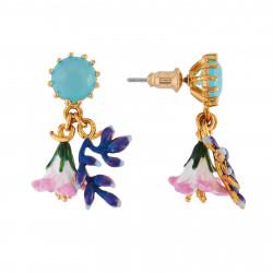 Boucles D'oreilles Pendantes Boucles D'oreilles Verre Taillé Et Duo De Fleurs Rose Et Bleue120,00€ AIFM112T/1Les Néréides