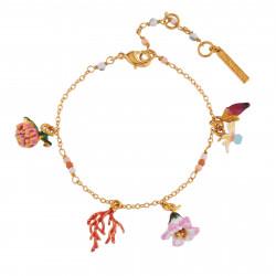 Bracelets Charms Bracelet Fleurs Et Branche De Corail