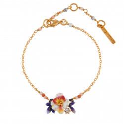 Bracelets Fins Bracelet Fleur Blanche Et Boutons Bleus80,00€ AIFM202/1Les Néréides