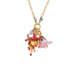 Colliers Pendentifs Collier Fleurs Jaune Et Rose Et Petites Pampilles115,00€ AIFM307/1Les Néréides