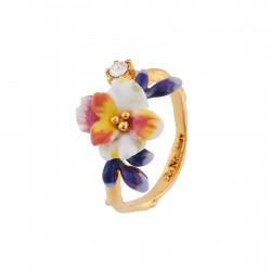 Bagues Ajustables Bague Ajustable Fleur Blanche Et Boutons Bleus85,00€ AIFM604/1Les Néréides