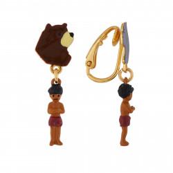 Boucles D'oreilles Boucles D'oreilles Clip Asymétriques Baloo, Bagheera Et Mowgli45,00€ AIIL101C/1N2 by Les Néréides