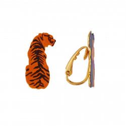 Boucles D'oreilles Boucles D'oreilles Clip Asymétriques Shere Khan Et Duo Mowgli-bagheera