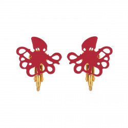 Pink Octopus Clip-on Earrings
