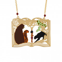 Long Necklace With Mowgli Surrounded By The Jungle Book Animals