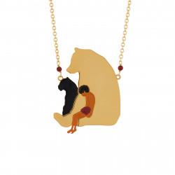 Colliers Sautoir Mowgli Assis Sur Son Ami Baloo