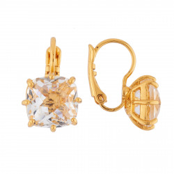 Boucles D'oreilles Dormeuses Boucles D'oreilles Dormeuses Pierre Carré La Diamantine Cristal50,00€ AILD101D/2Les Néréides