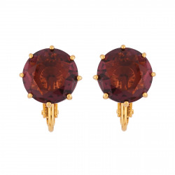 Clip-on Earrings Small Plum...