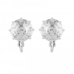 Boucles D'oreilles Clip Boucles D'oreilles Clip Petite Pierre Ronde La Diamantine Silver Cristal50,00€ AILD118C/3Les Néréides