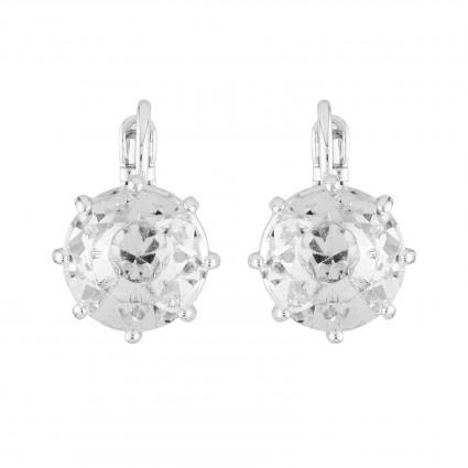 Boucles D'oreilles Dormeuses Boucles D'oreilles Dormeuses Petite Pierre Ronde La Diamantine Silver Cristal50,00€ AILD118D/3L...