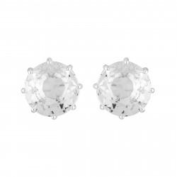 Boucles D'oreilles Tiges Boucles D'oreilles Tiges Petite Pierre Ronde La Diamantine Silver Cristal50,00€ AILD118T/3Les Néréides
