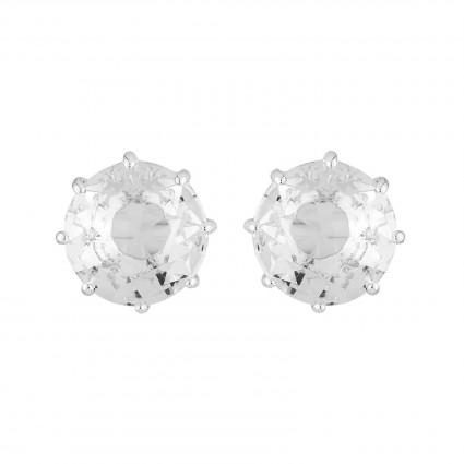 Boucles D'oreilles Tiges Boucles D'oreilles Petite Pierre Ronde Silver Cristal50,00€ AILD118T/3Les Néréides
