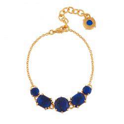 Bracelets Fins Bracelet 5 Pierres Bleu Nuit Aux Éclats Dorés