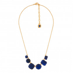 Necklace With 6 Dark Blue...