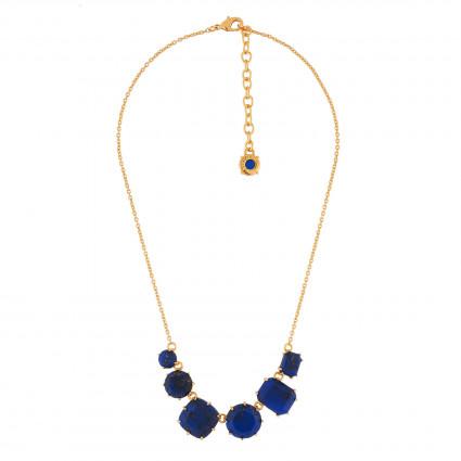 443aff36c4d4 ¡Descubra nuestra pulsera con 5 piedras de color azul profundo con brillos  dorados! Este collar se compone con delicadeza de piedras reconstituidas.