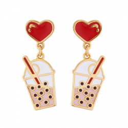 Love Bubble Tea  Earrings