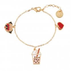 Bracelets Bracelet Pampilles Carlin Charmeur, Bubble Tea Et Petit Cœur50,00€ AILP202/1N2 by Les Néréides