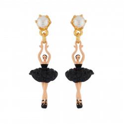 Boucles D'oreilles Pendantes Boucles D'oreilles Mini Ballerine En Tutu Pavé De Strass Noirs70,00€ AIMDD101T/9Les Néréides