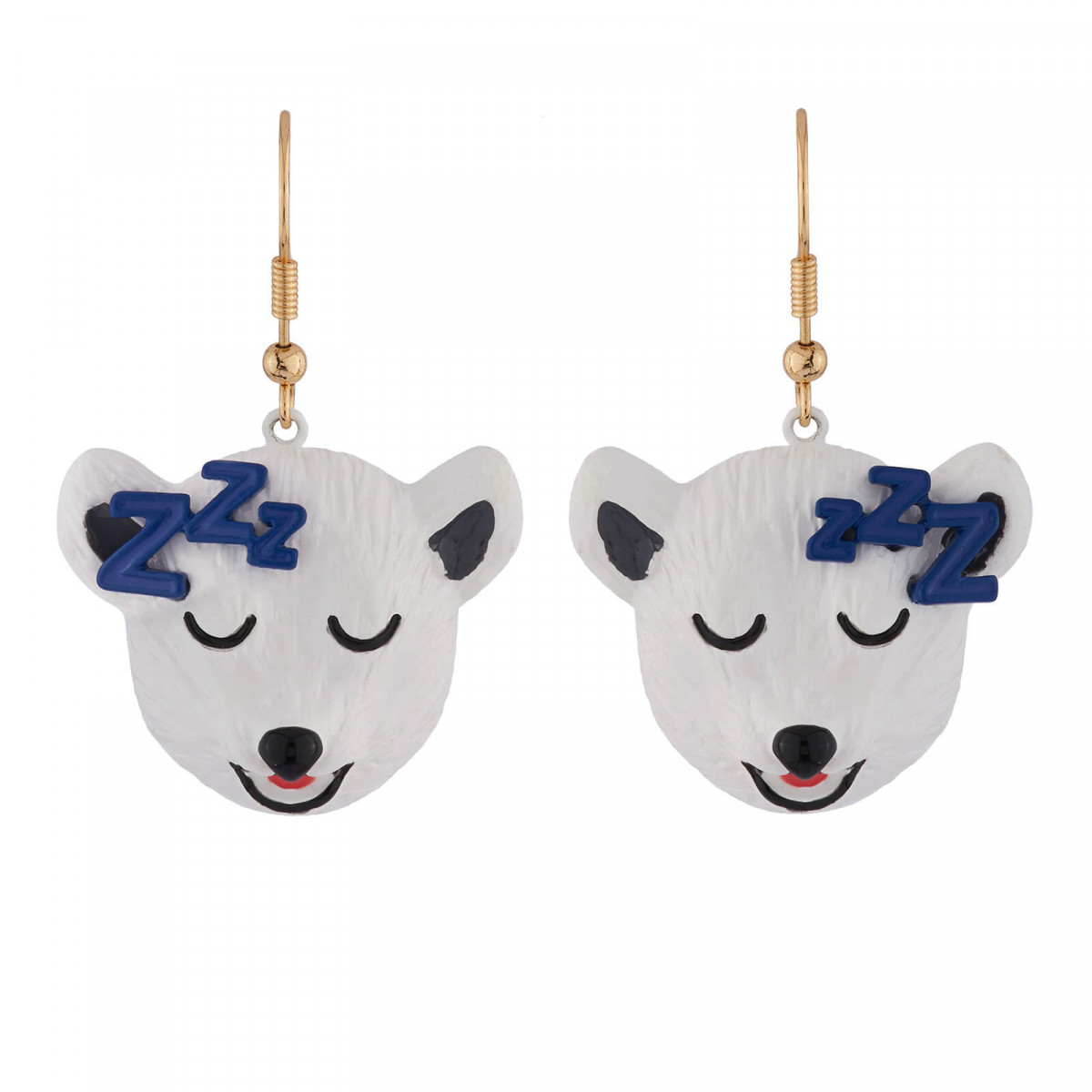 Discover Our Drowsy Polar Bear Earrings These Are Made Up In Br And Resin Both Hand Enamelled Along With Painted Pieces