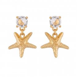 Boucles D'oreilles Pendantes Boucles D'oreilles Étoile De Mer Dorée Et Strass70,00€ AINF107T/1Les Néréides