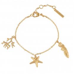 Bracelets Charms Bracelet Branche De Corail, Étoile De Mer Et Plume85,00€ AINF204/1Les Néréides