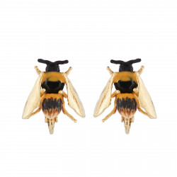 Clip-on Earrings Bee With...