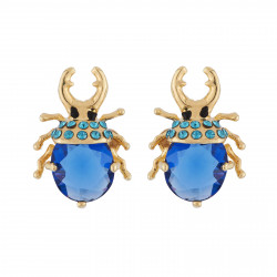 Earrings Beetle With Golden...