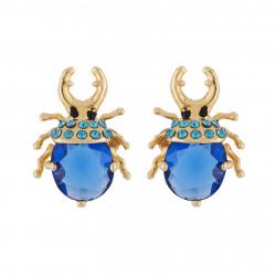 Earrings Beetle With Golden...