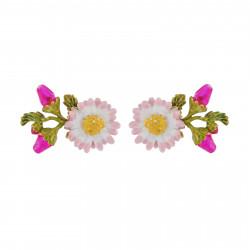 Boucles D'oreilles Tiges Boucles D'oreilles Petite Pâquerette Et Boutons De Fleurs