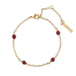 Bracelets Fins Bracelet Multi Coccinelles Et Perles