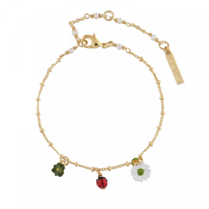 Bracelets Fins Bracelet Charms Trèfle, Coccinelle Et Pâquerette60,00€ AIPR203/1Les Néréides