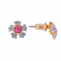 Boucles D'oreilles Tiges Boucles D'oreilles Bouquet De Petites Fleurs Bleues Et Strass50,00€ AISF101T/1Les Néréides