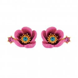 Boucles D'oreilles Tiges Boucles D'oreilles Fleur Rose Au Pistil En Strass75,00€ AISF103T/1Les Néréides