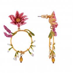 Boucles D'oreilles Creoles Créoles Fleur Rose, Branches De Lavande Et Boutons Blancs140,00€ AISF111T/1Les Néréides
