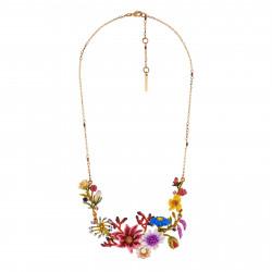 Colliers Plastrons Collier Couture Bouquet D'une Symphonie De Fleurs