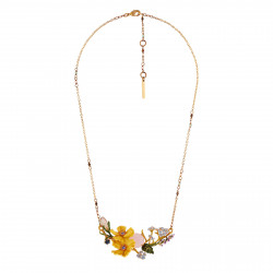 Necklace Yellow Flowers And...