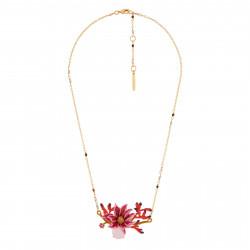 Collar Flor Rosa Con...