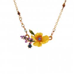 Colliers Fins Collier Fleur Jaune, Branche De Fleurs Violettes Et Strass90,00€ AISF310/1Les Néréides