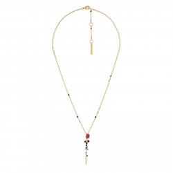 Colliers Pendentifs Collier Fleur Rose Et Noire Et Cascade De Strass80,00€ AISF312/1Les Néréides