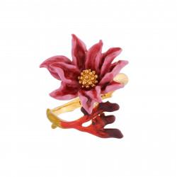 Bagues Ajustables Bague Ajustable Fleur Rose Au Pistil Doré