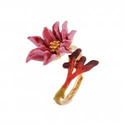 Bagues Ajustables Bague Ajustable Fleur Rose Au Pistil Doré90,00€ AISF603/1Les Néréides
