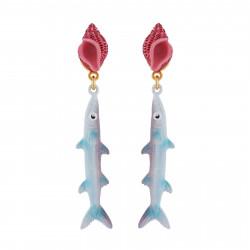 Whelk And Mackerel Earrings