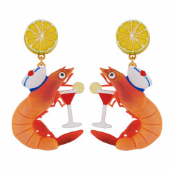 Earrings With Shrimp...