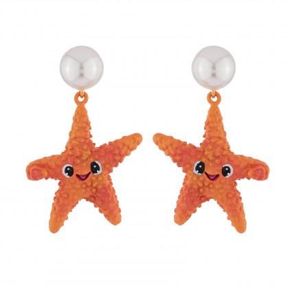 Boucles D'oreilles Boucles D'oreilles Étoile De Mer Et Perle