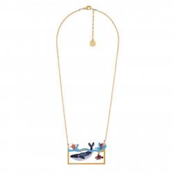 Colliers Collier Baleine À Bosse Et Petits Poissons Nageant Dans L'océan65,00€ AISO305/1N2 by Les Néréides