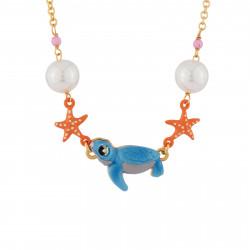 Colliers Collier Petite Tortue, Étoiles De Mer Et Perles