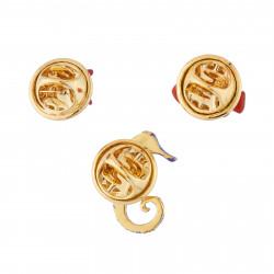 Accessoires Set De 3 Pin's Étoile De Mer, Poisson-clown Et Hippocampe
