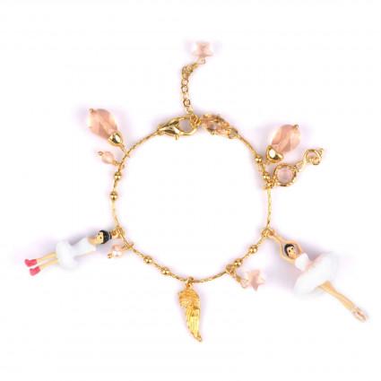 Bracelets Charms Bracelet Danseuses Étoiles À Breloques Blanc
