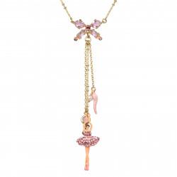 Colliers Pendentifs Collier Ballerine Et Clé De Sol Rose Cristal130,00€ ZDDL302/1Les Néréides