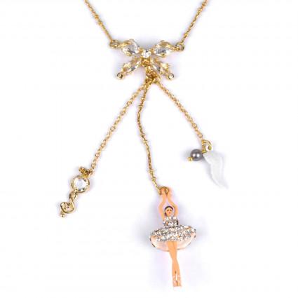 Necklace Alphabet Fleuri letter P